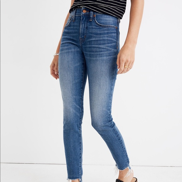 Madewell High-Rise Skinny Destructed Jeans Sz 27